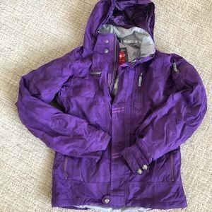 Womens Small Purple Snowboarding Jacket